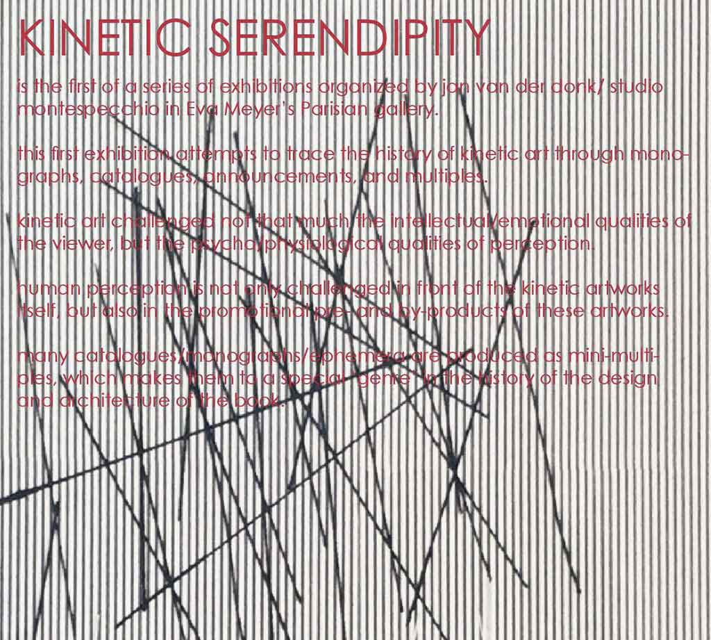 "Studio Montespecchio presents  ""KINETIC SERENDIPITY"""